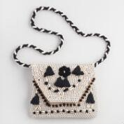 Black and White Puka Shell Crossbody Bag