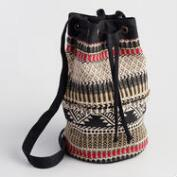 Black and White Crossbody with Beads