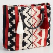 Red, Black and White Tote