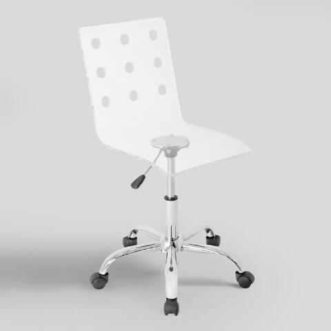 clear acrylic swivel office chair world market