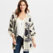 Blue Rose Open Front Cardigan
