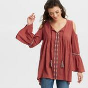 Rust Lake Cold Shoulder Tunic