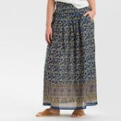Blue Paisley Maxi Skirt