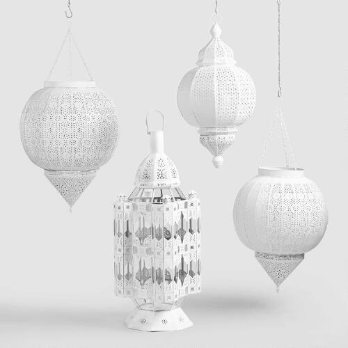 White Amira Lantern Collection