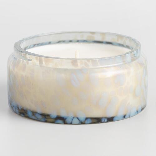 Green Melon and Apple Gray Leopard Filled Jar Candle
