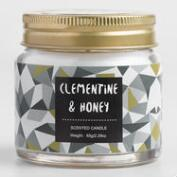 Mini Clementine and Honey Geometric Filled Candle