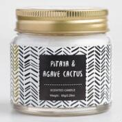 Mini Pitaya and Agave Cactus Geometric Filled Candle