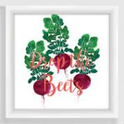 Drop the Beets Framed Print
