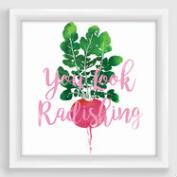 You Look Radishing Framed Print