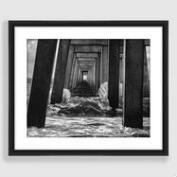 Crash Black and White Framed Print