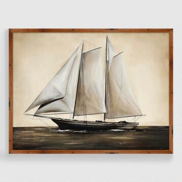 Vintage Sailboat Framed Print
