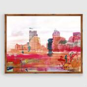Urban Skyline Framed Print