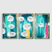 Abstract Circles Canvas Prints Set of 3