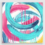 Abstract Running Circles Canvas Print