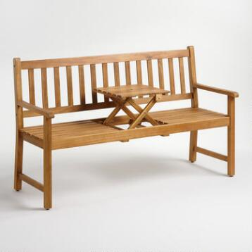 Wood St. Lucia Balcony Bench