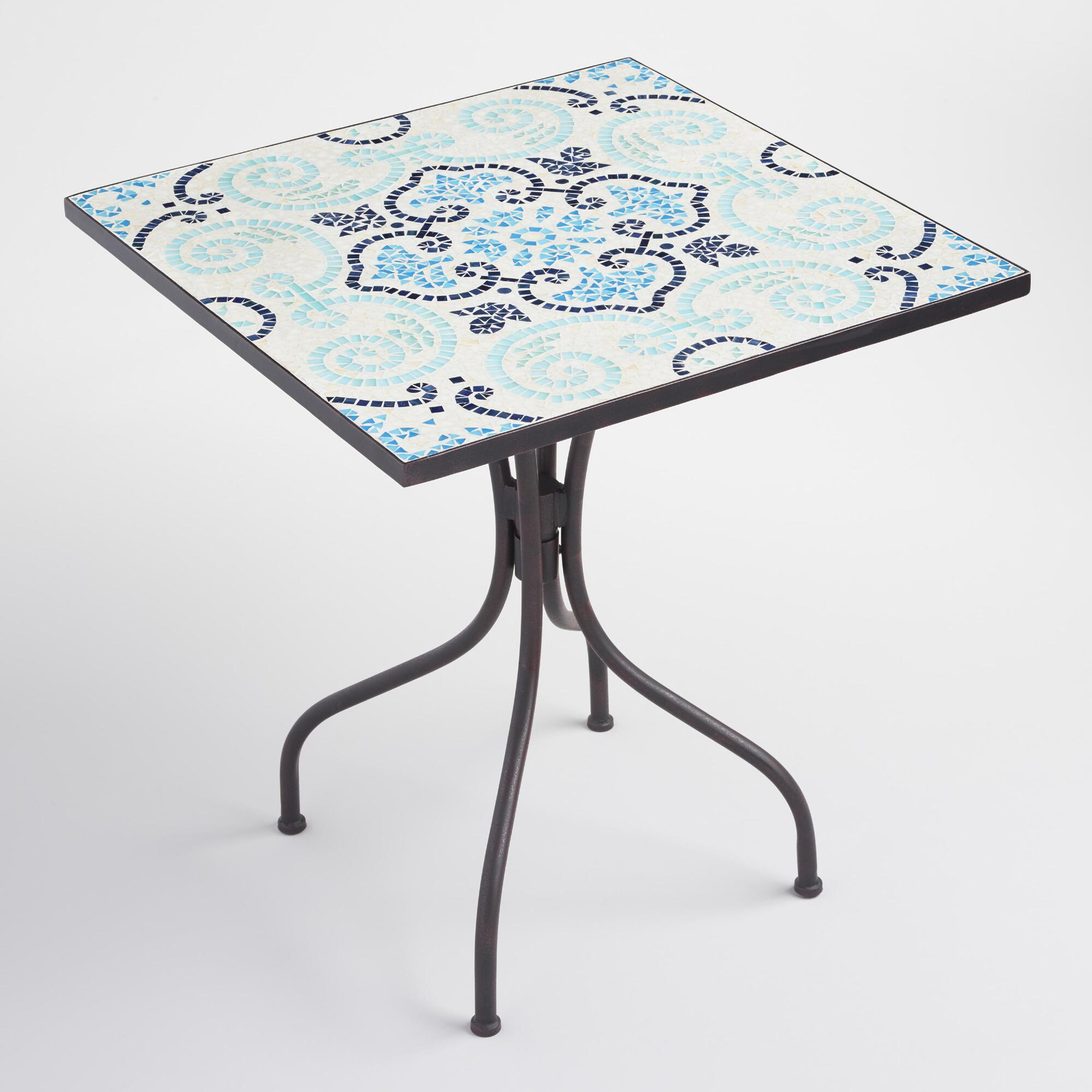 mosaic square cadiz bistro table world market. Black Bedroom Furniture Sets. Home Design Ideas