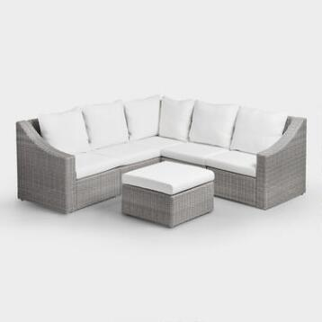 Gray Veracruz Outdoor Sectional Sofa