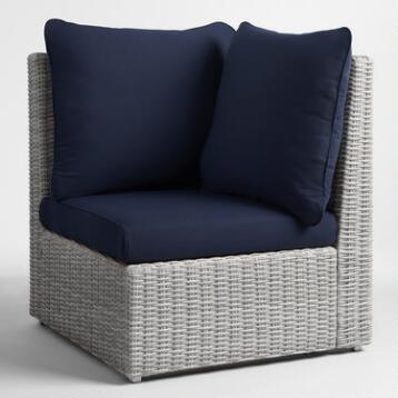 Peacoat Blue Veracruz 3 Piece Slipcover Set