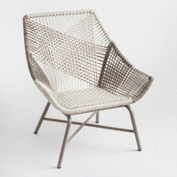 Gray Andalusia Woven Chair