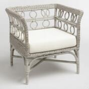 Graywash Handwoven All Weather Wicker Cassis Chair