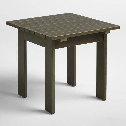 Olive Green Adirondack Side Table