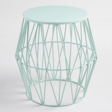 Surf Spray Octavia Faceted Stool