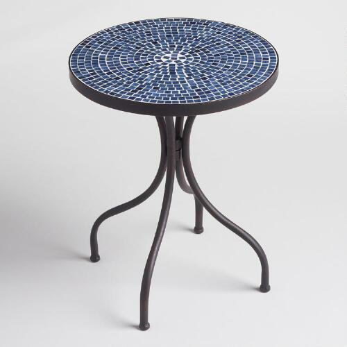 Peacoat Blue Cadiz Accent Table