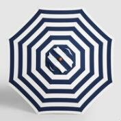 Navy Awning Stripe 9 ft Umbrella Canopy