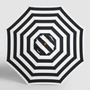 Black Awning Stripe 9 ft Umbrella Canopy