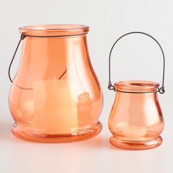 Orange Teardrop Lanterns