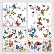 Papillon Series 4 Piece Wall Art by Allyson Fukushima