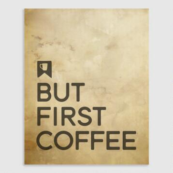 But First Coffee Wall Art