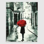Red Umbrella 2 by Emanuel Ologeanu