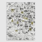 White Paris Map Wall Art