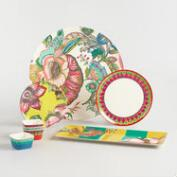 Coastal Blossoms Melamine Serveware Collection