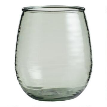 Acrylic Textured Stemless Wine Glasses Set of 4