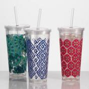 Acrylic Double Wall Tumblers Set of 3
