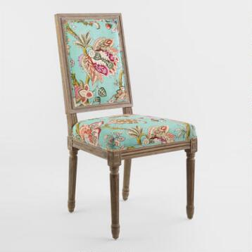 Monrovia Floral Paige Square Back Dining Chairs Set of 2