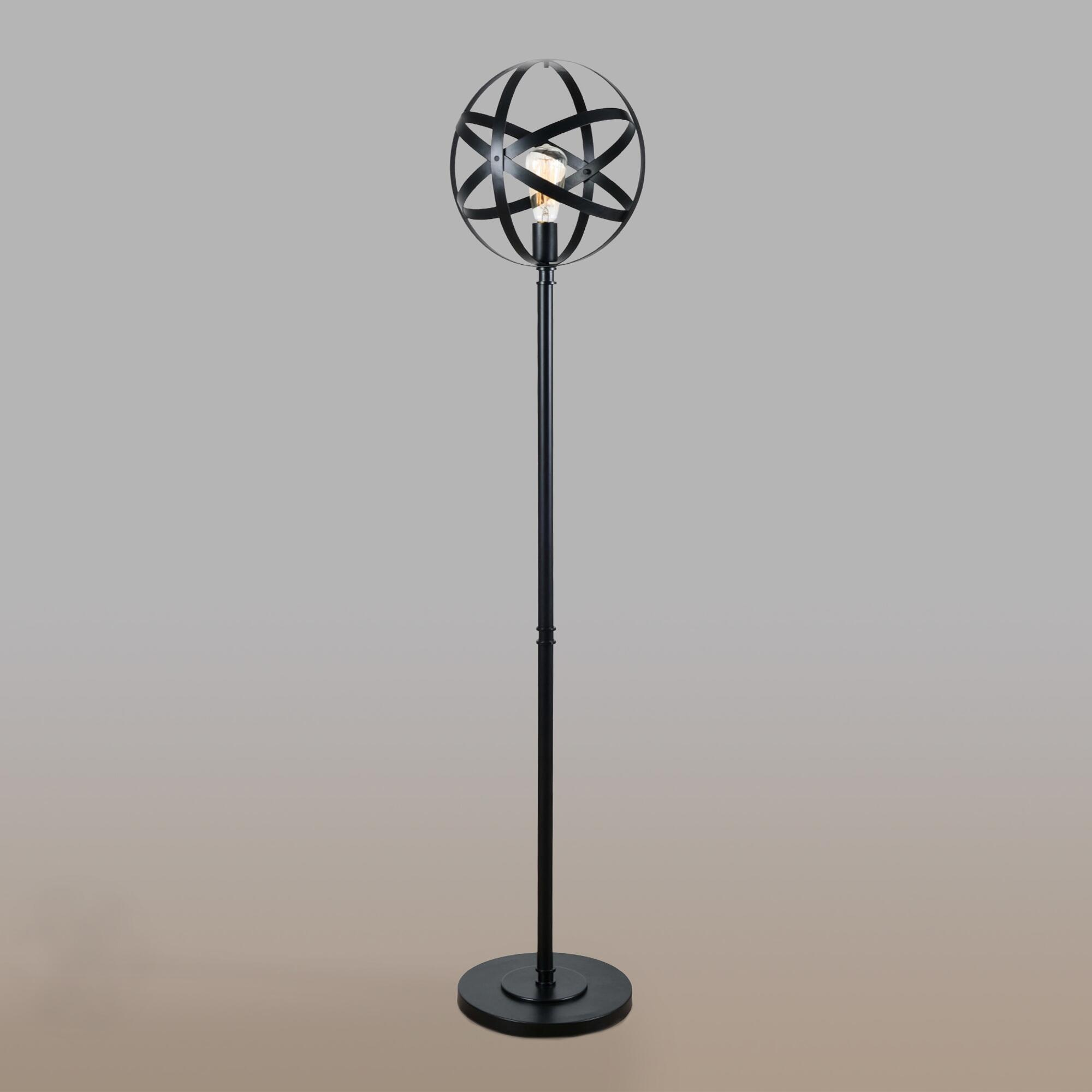Black Metal Orb Floor Lamp World Market