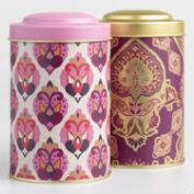 Jaipur and Priti Metal Tea Tins Set of 2