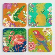 Tropical Icon Melamine Coasters Set of 4
