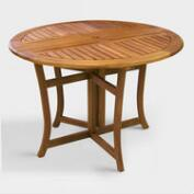 Round Wood Danner  Folding Table