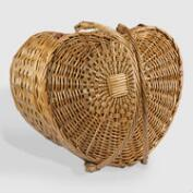 Willow Heart Picnic Basket for Two