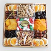 Dried Fruit and Nuts in Bamboo Gift Basket