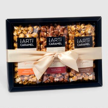 Chocolate Lovers Caramel Popcorn Gift Set
