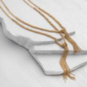 Gold Double Chain Tassel Necklace