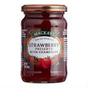 Mackays Strawberry Preserve with Champagne Set of 6