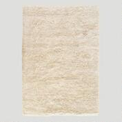 Wool/Cotton Shag Rug Natural