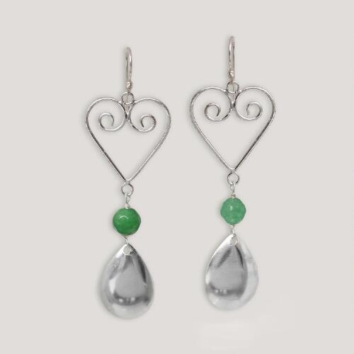 Novica Spring Hearts Sterling Silver Earrings