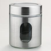 22-oz. Round Glass and Stainless Steel Storage Jar